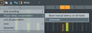 how to edit time compensation fl studio
