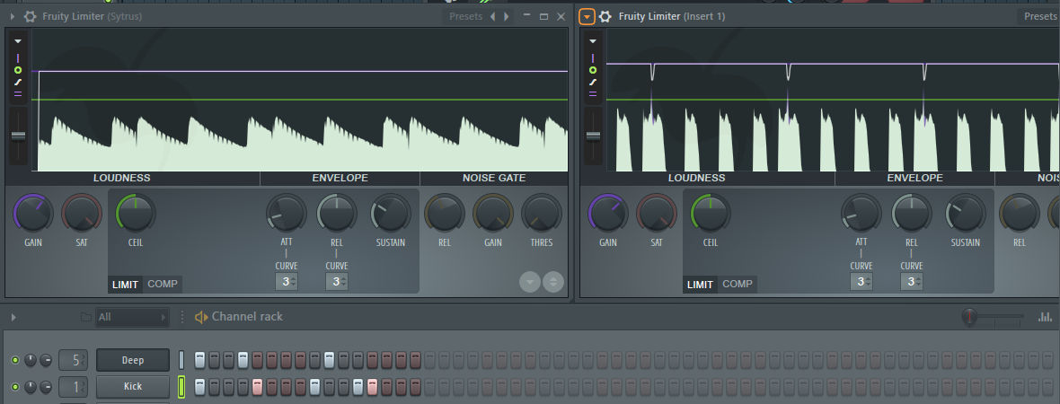 howt to avoid distortion with fruity limiter