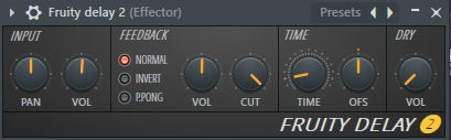 How to use fruity delay 2 by no dry level