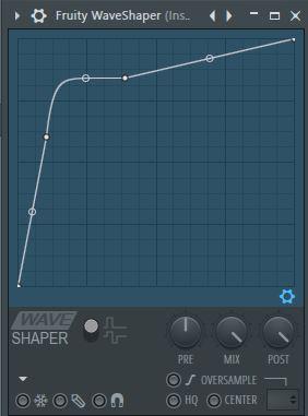 how to adjust waveshaper fl studio
